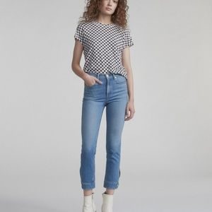 25 Rag & Bone High Rise Cuffed Cigarette Leg Jeans